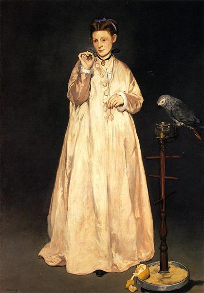 Woman with a Parrot, 1866 - Édouard Manet