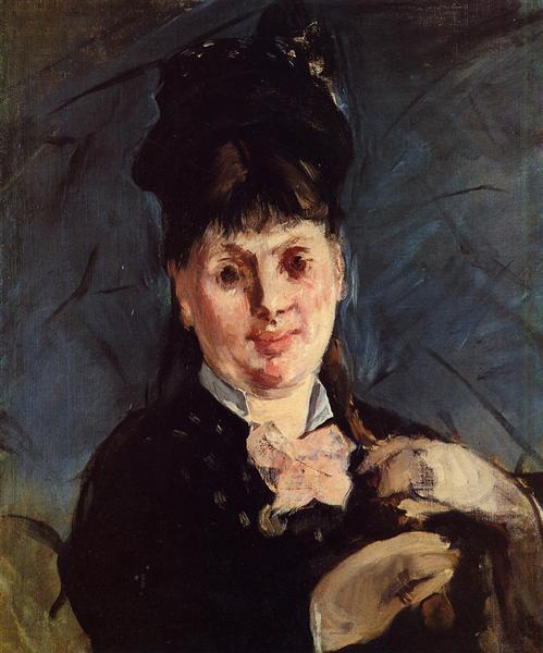 Woman with umbrella, 1875 - Edouard Manet