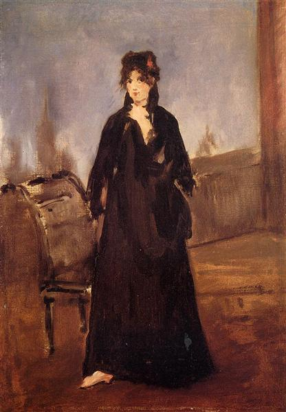 Young woman with a pink shoe (Portrait of Berthe Morisot), 1868 - Edouard Manet