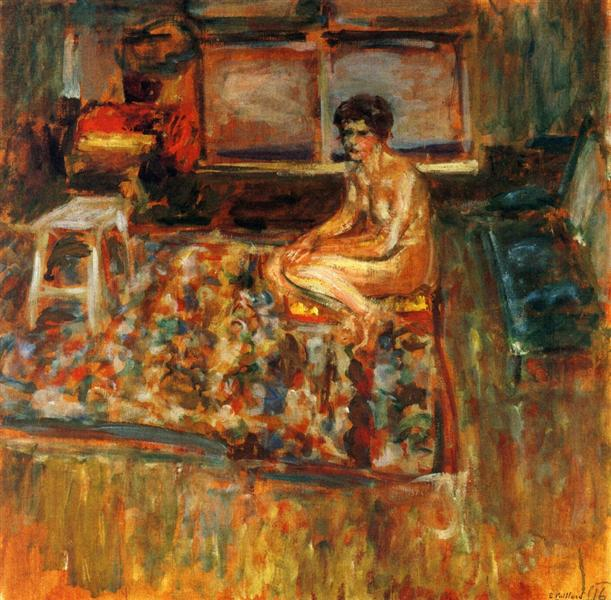 Nude on an Orange Rug, 1909 - Edouard Vuillard