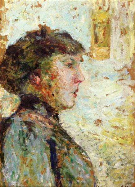Portrait of a Woman in Profile, 1908 - Edouard Vuillard