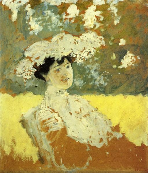 Woman with a Hat - Edouard Vuillard