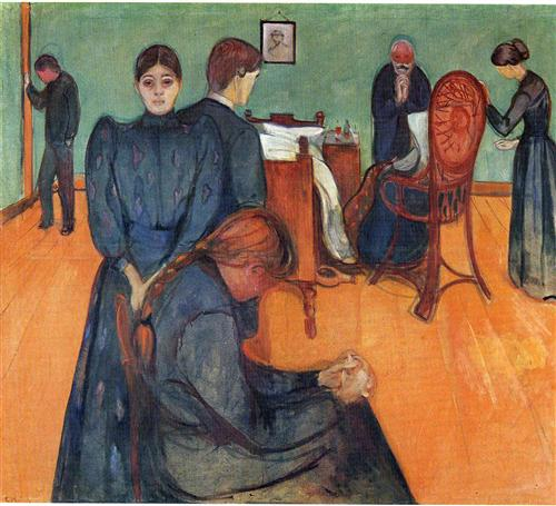 Death In The Sickroom Edvard Munch Wikiart Org