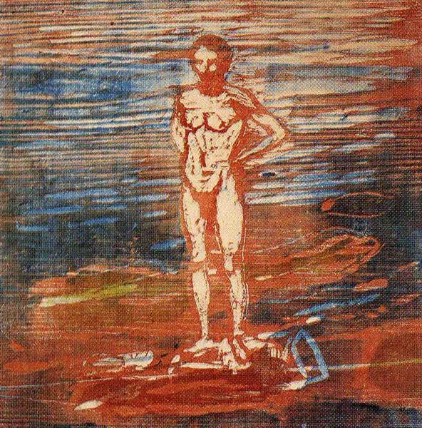Man Bathing, 1899 - Edvard Munch