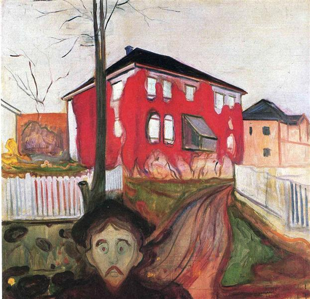 Red Virginia Creeper, 1898 - 1900 - Edvard Munch
