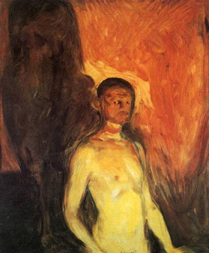 Self-Portrait in Hell - Edvard Munch
