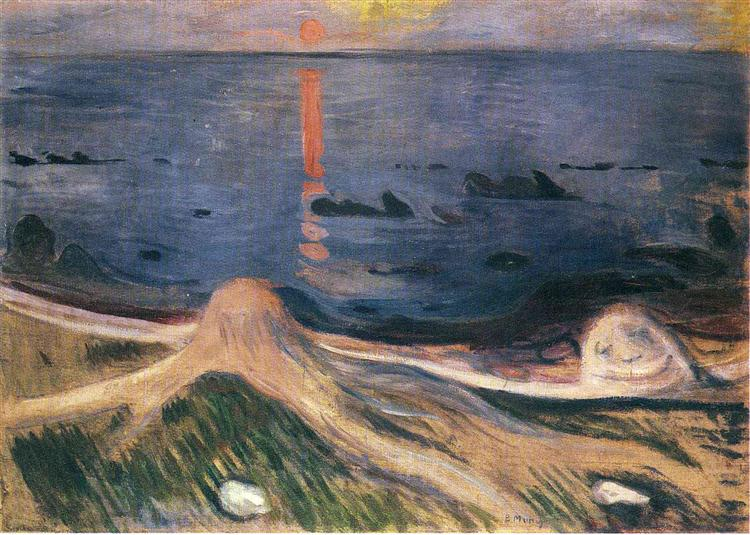 The Mystery of a Summer Night, 1892 - Edvard Munch