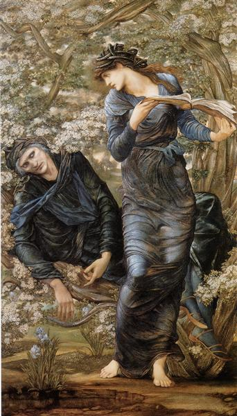 The Beguiling of Merlin (Merlin and Vivien), 1870 - 1874 - Edward Burne-Jones