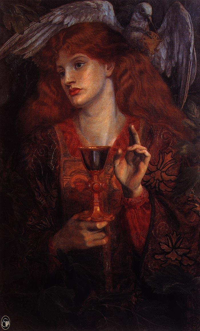 The Damsel Of The Sanct Grail Edward Burne Jones