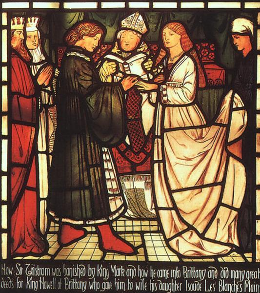 Wedding of Sir Tristram, 1862 - 1863 - Edward Burne-Jones