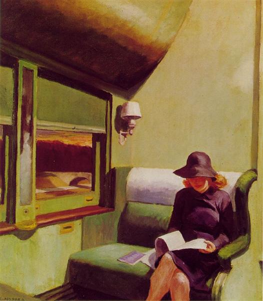 Compartment Car, 1938 - Edward Hopper