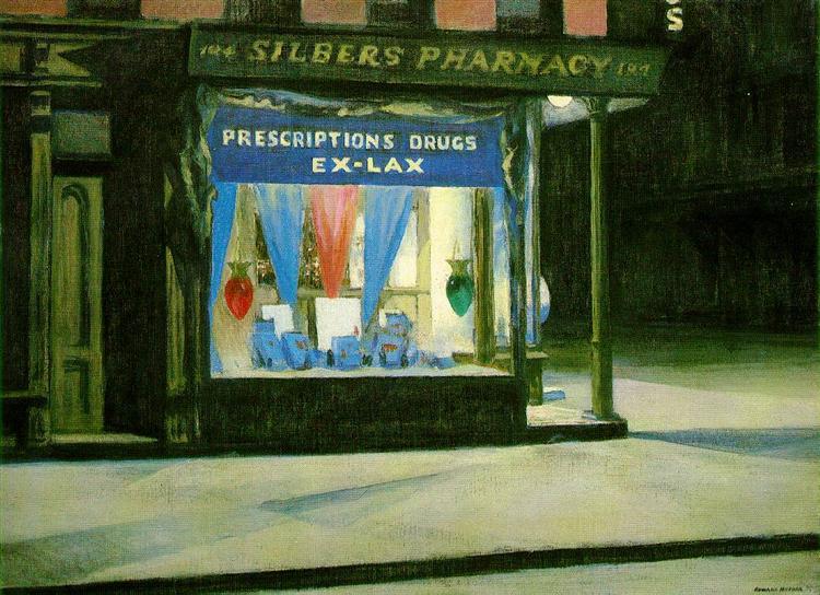 Drug Store, 1927 - Edward Hopper