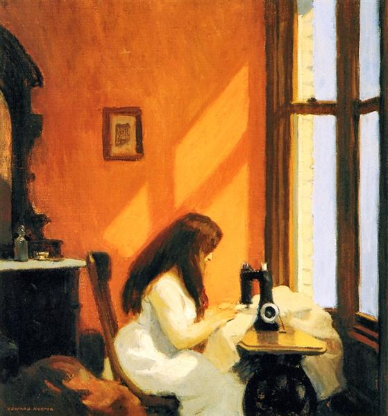 Girl at a Sewing Machine - Edward Hopper