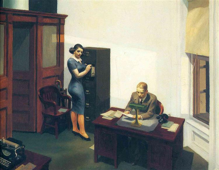 Office at Night - Hopper Edward