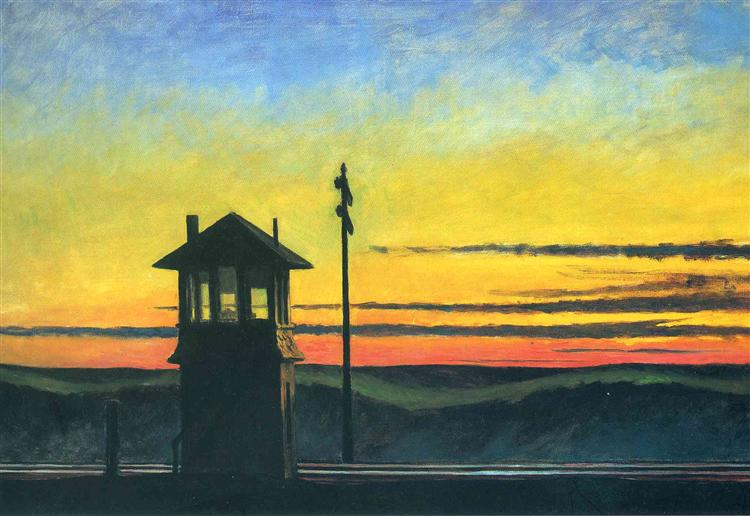 Railroad Sunset, 1929 - Edward Hopper