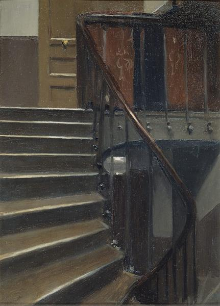 Stairway at 48 rue de Lille Paris, 1906 - Edward Hopper