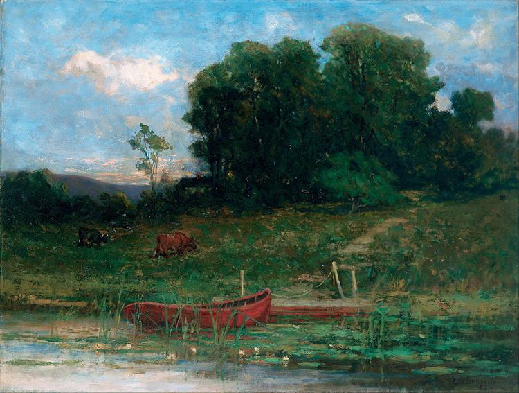 The Farm Landing - Edward Mitchell Bannister
