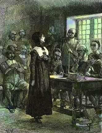 Anne Hutchinson on Trial, 1901 - Edwin Austin Abbey
