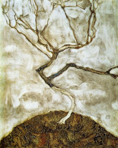 A Tree in Late Autumn - Egon Schiele
