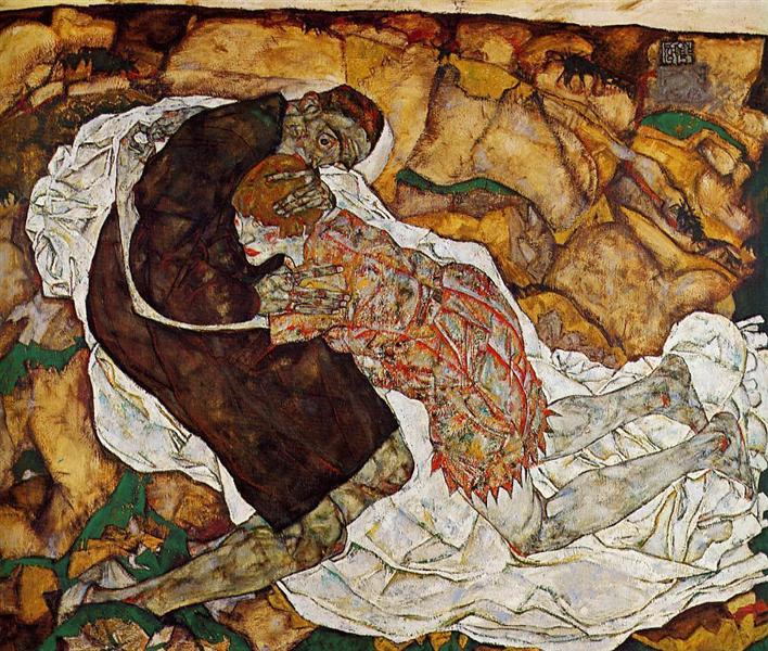 Death and the Maiden, 1915 - Egon Schiele