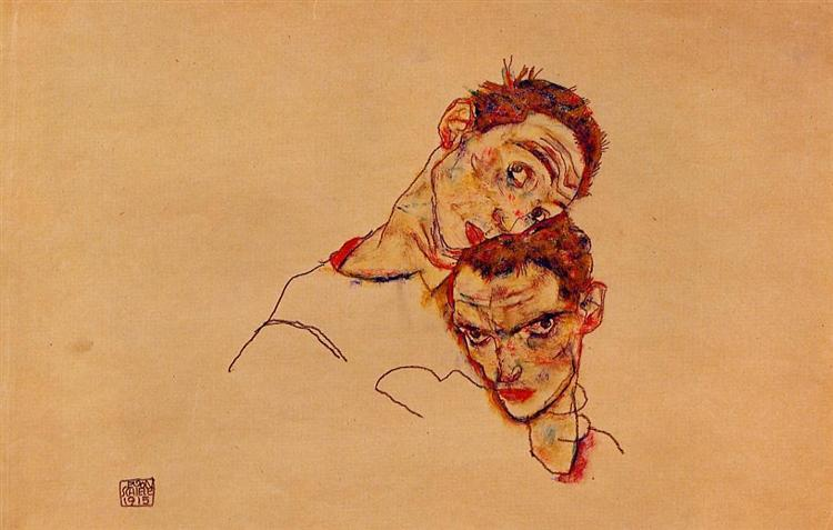 Double Self Portrait, 1915 - Egon Schiele