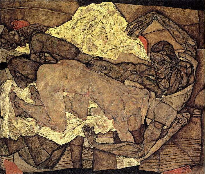 Lovers Man and Woman, 1914 - Egon Schiele