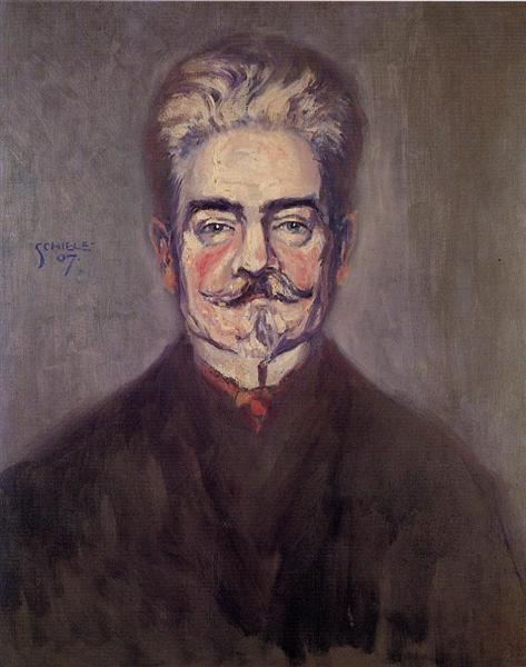 Portrait of Leopold Czihaczek - Egon Schiele
