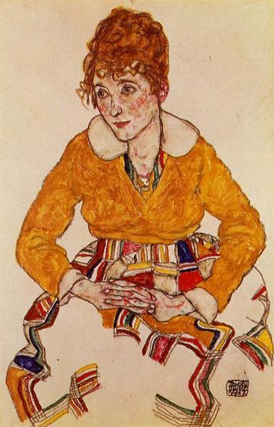 Portrait of the Artist's Wife, 1917 - Egon Schiele