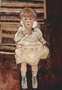 Seated child - Эгон Шиле