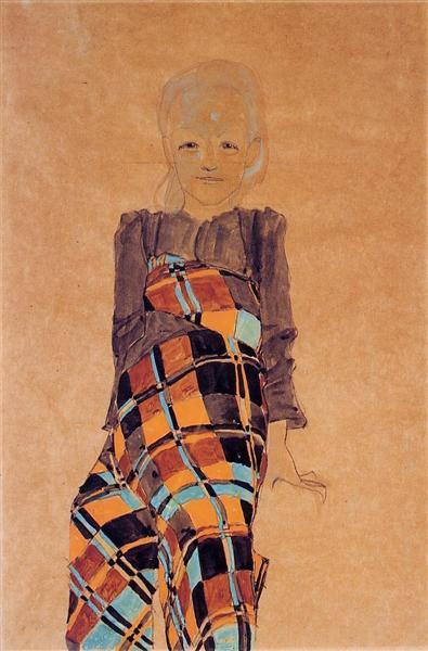 Seated Girl, 1910 - Egon Schiele