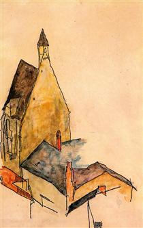 Spitalskirche, Molding - Эгон Шиле