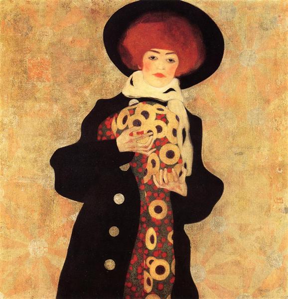 Woman with Black Hat, 1909 - Egon Schiele