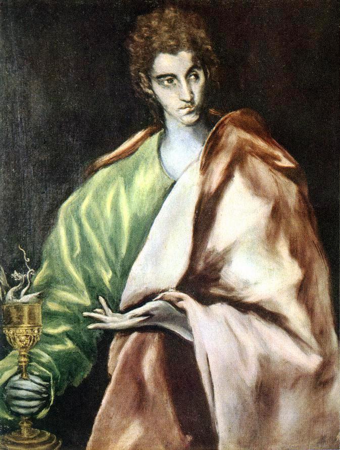 Znalezione obrazy dla zapytania saint John the Evangelist El Greco paintings