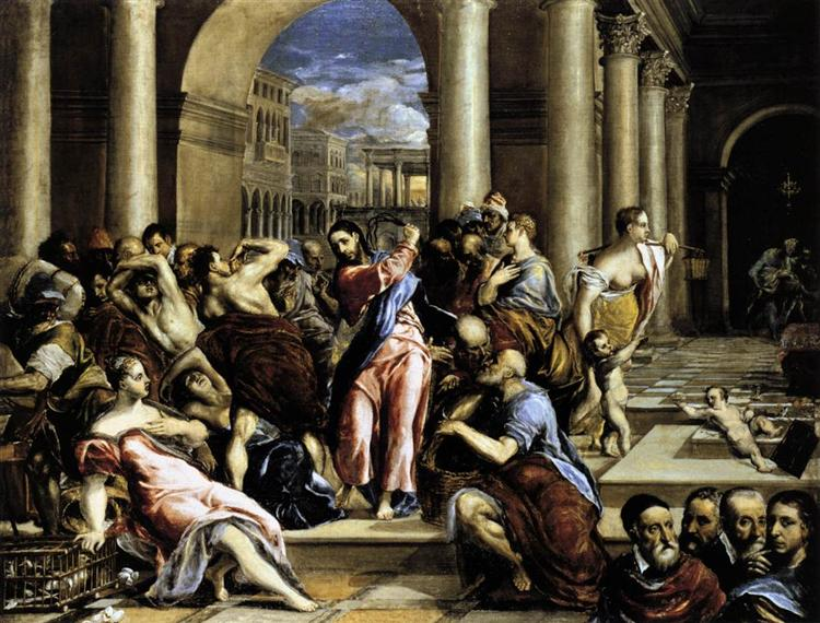 Christ driving the traders from the temple, 1571 - 1576 - El Greco