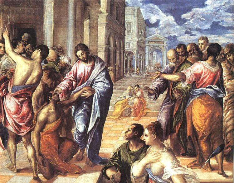 Christ healing the blind, 1578 - El Greco