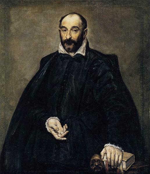Portrait of a man (Andrea Palladio), 1575 - El Greco