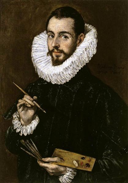 Portrait of the-Artist's son Jorge Manuel Theotokopoulos - El Greco