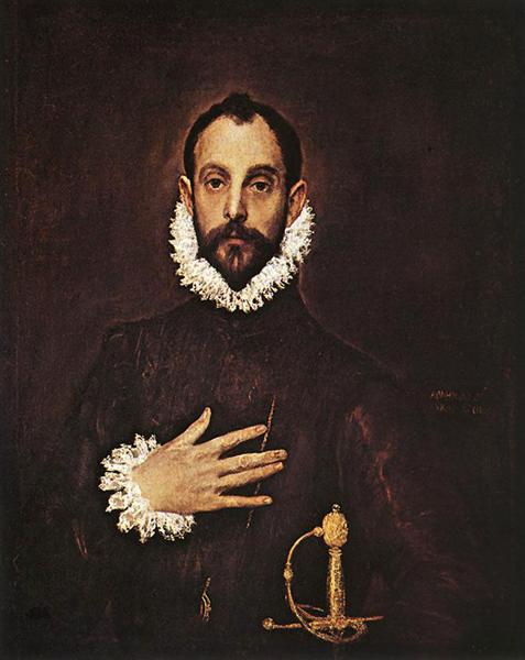 The Knight with his hand on his breast, c.1584 - El Greco