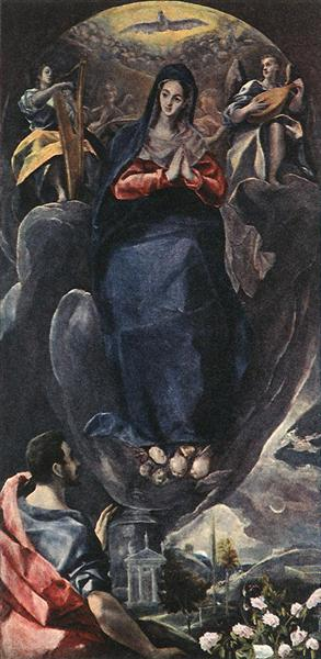 The Virgin of the Immaculate Conception and St. John, 1585 - El Greco