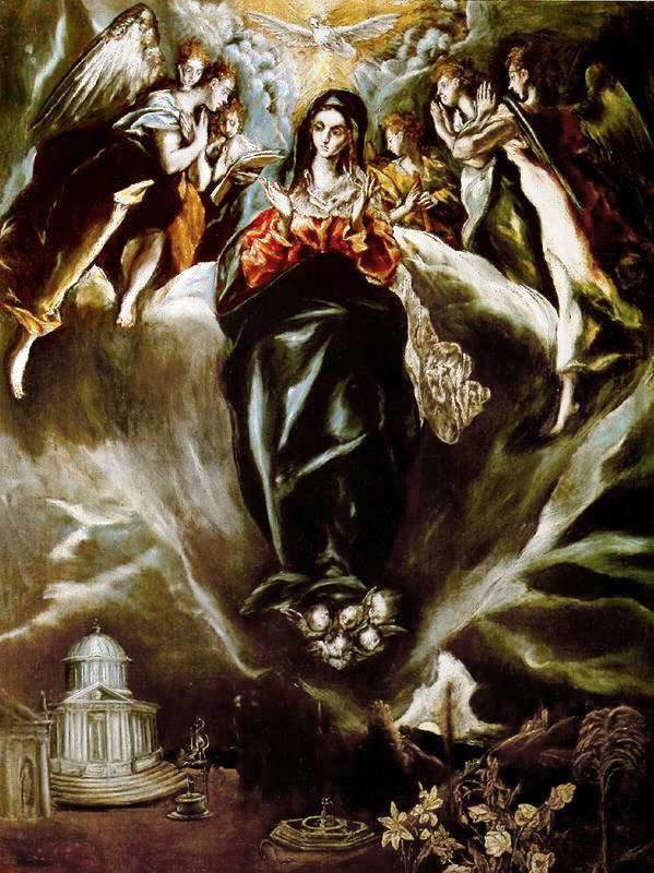 The virgin of the immaculate conception