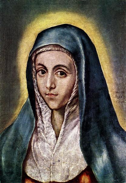 Virgin Mary, c.1600 - El Greco