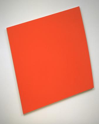 Red-Orange Panel with Curve, 1993 - Ellsworth Kelly