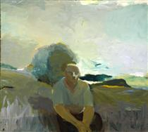 Figure in Landscape - Елмер Бішофф