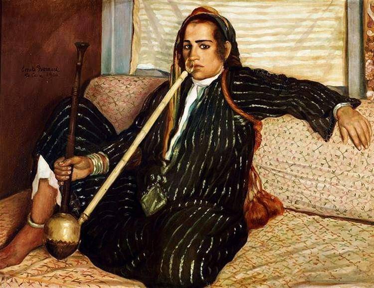 The smoking Hashish, 1900 - Émile Bernard