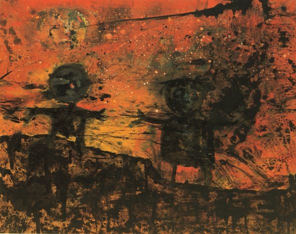 Due bambini nella notte nucleare, 1956 - Enrico Baj