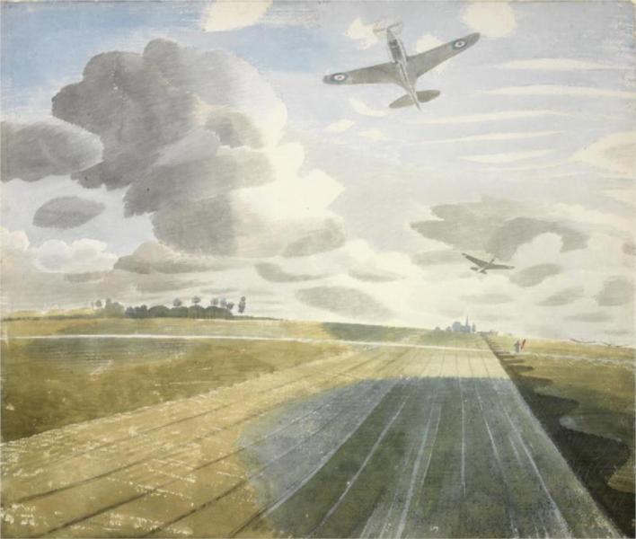 Runway Perspective, 1942 - Eric Ravilious
