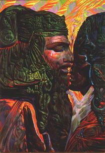 DAVID AND BATHSHEBA (II) - Ernst Fuchs