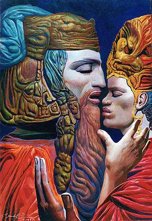 DAVID AND BATSHEBAH (IV), 1995 - Ernst Fuchs