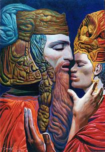 DAVID AND BATSHEBAH (IV) - Ernst Fuchs