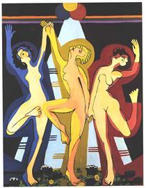 Colourful Dance - Ernst Ludwig Kirchner